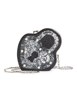 Edie Parker key to my heart acrylic bag