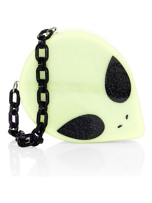 Edie Parker kyron alien head convertible clutch
