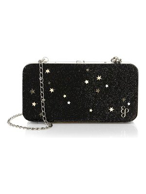 Edie Parker star glitter hardbody shoulder clutch