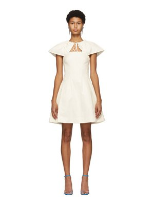 EDIT off-white capelet short dress