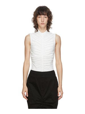 EDIT ssense exclusive  sleeveless ruch front t-shirt