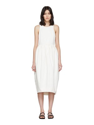 EDIT white racer back puff dress