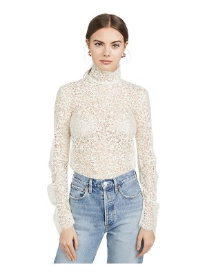 Edition10 lace high neck blouse