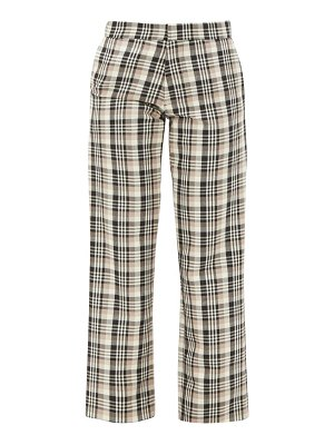 EDWARD CRUTCHLEY checked wool tailored trousers