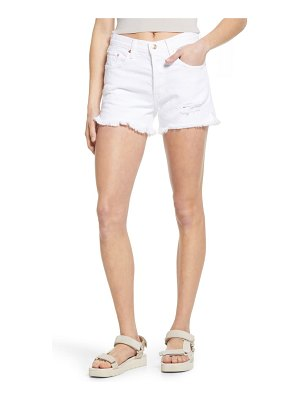 Edwin cai distressed high waist cutoff denim shorts