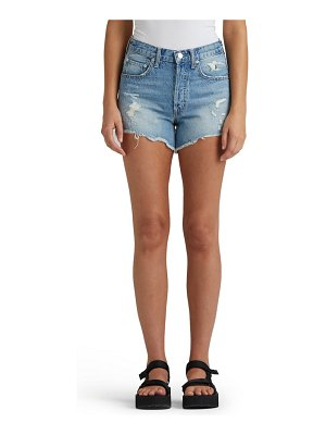 Edwin cai distressed high waist denim cutoff shorts