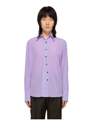 Eftychia purple closed shirt