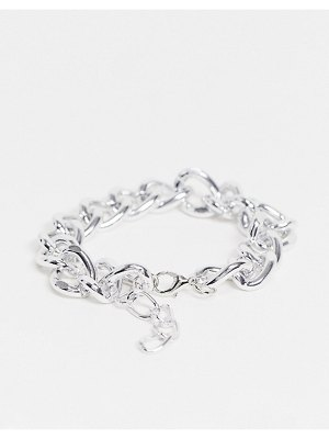 EGO chunky chain anklet in silver