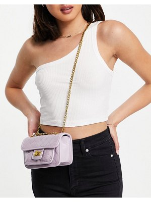 EGO mini cross body bag in quilted lilac-purple