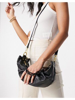 EGO x molly-mae shoulder bag with chunky chain straps in black