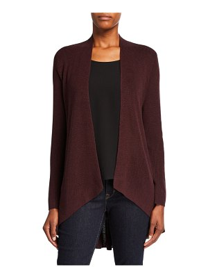 Eileen Fisher Angle-Front Silk/Cashmere Cardigan