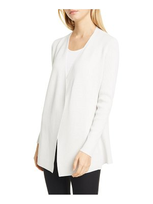 Eileen Fisher angled front silk blend cardigan