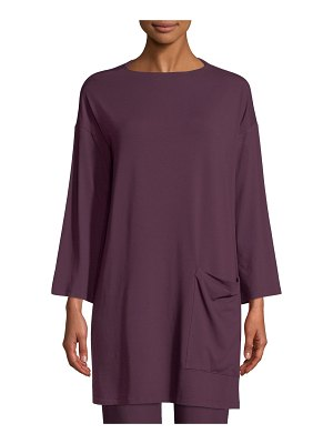 Eileen Fisher Bateau-Neck Jersey Tunic