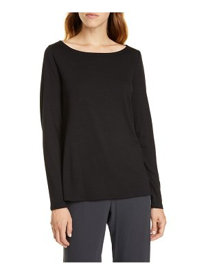 Eileen Fisher bateau neck slim tencel lyocell top