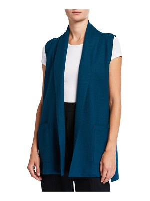 Eileen Fisher Boiled Wool Jersey Vest