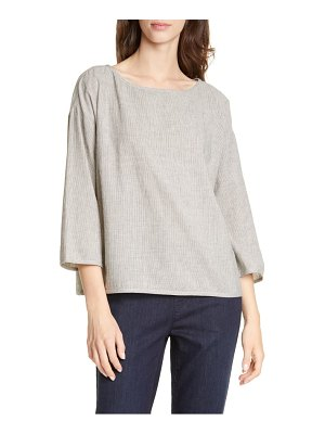 Eileen Fisher boxy bateau neck blouse