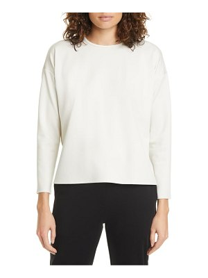 Eileen Fisher boxy crewneck top