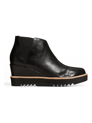 Eileen Fisher Caddy Leather Wedge Ankle Booties