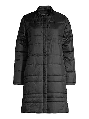 Eileen Fisher channeled recycled nylon quilted car coat