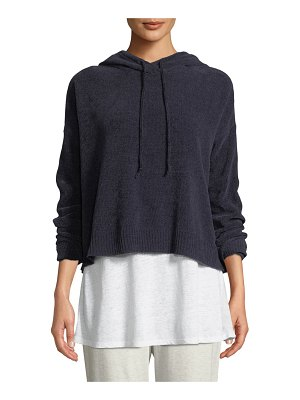 Eileen Fisher Chenille Hooded Sweater