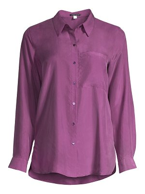 Eileen Fisher classic-collar silk shirt