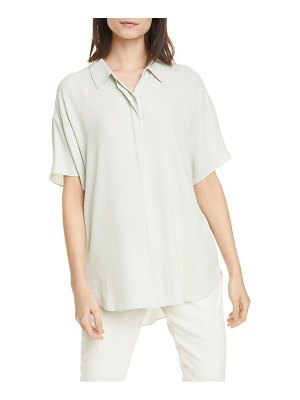 Eileen Fisher classic collar silk shirt