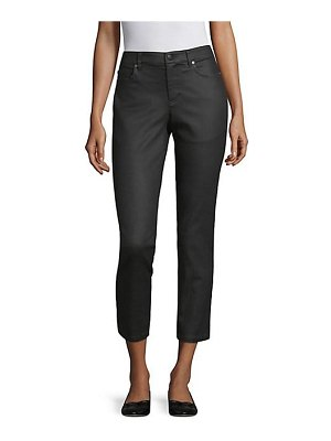 Eileen Fisher coated stretch ankle jeans
