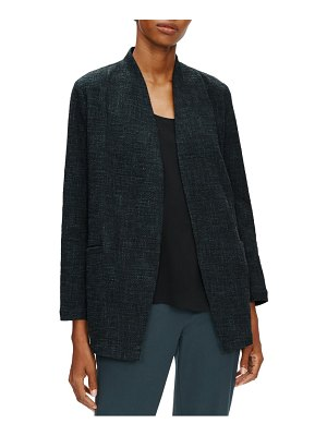 Eileen Fisher cotton slub tweed jacket