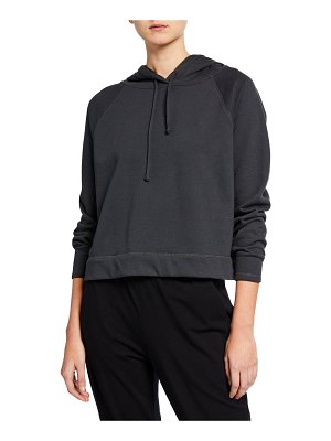 Eileen Fisher Cotton Terry Hooded Long-Sleeve Top