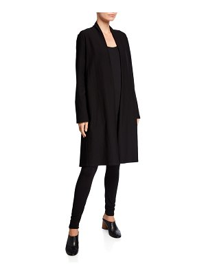 Eileen Fisher Crepe Shawl Collar Long Jacket