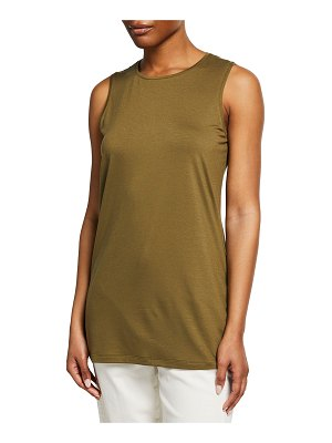 Eileen Fisher Crewneck Long Jersey Tank