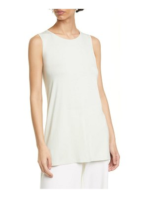 Eileen Fisher crewneck long tank top