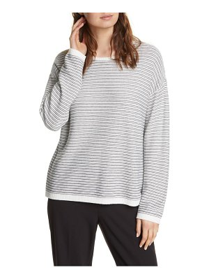 Eileen Fisher crewneck organic cotton blend sweater