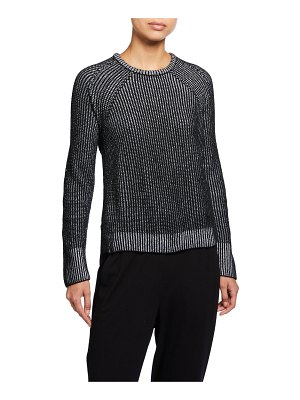 Eileen Fisher Crewneck Organic Cotton Chenille Sweater