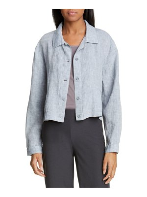 Eileen Fisher crop organic linen jacket