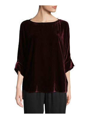 Eileen Fisher Dolman-Sleeve Velvet Top