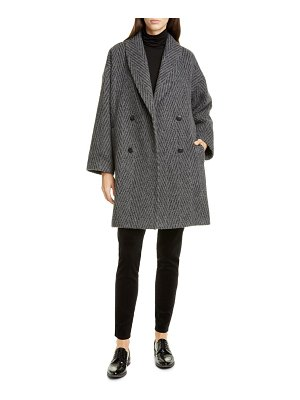 Eileen Fisher double breasted alpaca & wool blend coat
