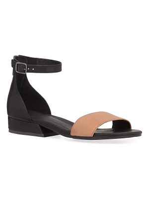 Eileen Fisher Elie Two-Tone Leather Flat Sandals
