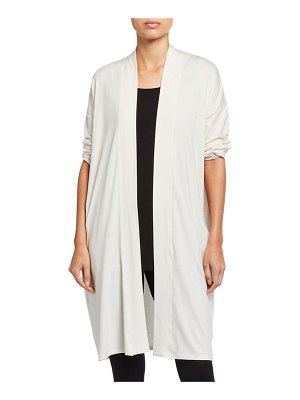 Eileen Fisher Fine Lyocell Jersey Open Long Cardigan