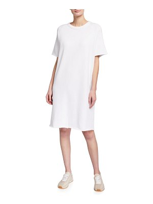 Eileen Fisher French Terry Organic Cotton Short-Sleeve Dress