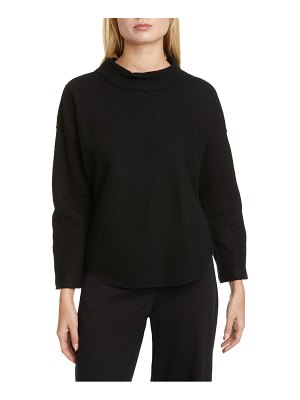 Eileen Fisher funnel neck wool sweater