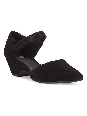 Eileen Fisher Gal Tabbed Suede Pumps