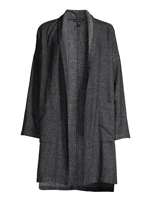 Eileen Fisher hemp & cotton kimono coat