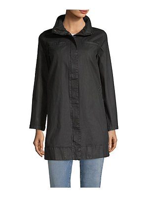 Eileen Fisher hidden hood a-line coat