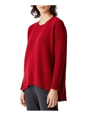 Eileen Fisher high/low recycled cashmere & wool sweater