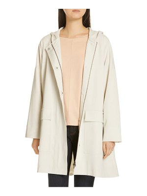 Eileen Fisher hooded a-line coat