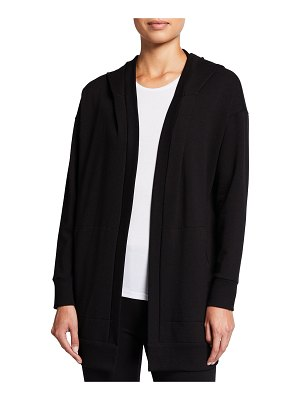 Eileen Fisher Hooded Long Jacket with Pockets