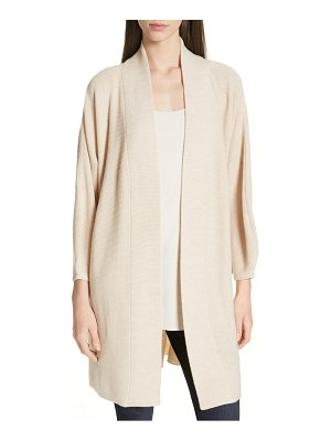 Eileen Fisher long merino wool cardigan