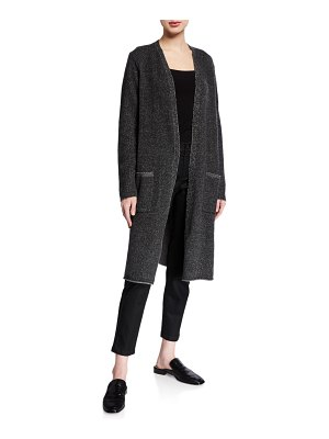 Eileen Fisher Long Plaited Lofty Recycled Cashmere Cardigan