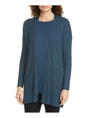 Eileen Fisher long ribbed cardigan